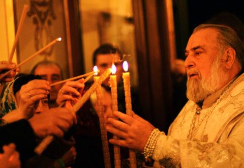 У день Христового Воскресіння Преосвященніший єпископ Тихон очолив пасхальне богослужіння