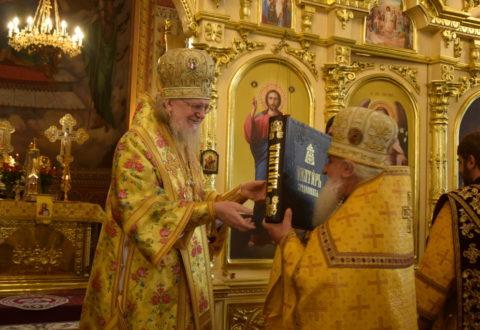 У день апостолів Петра і Павла Високопреосвященніший Серафим звершив Божественну літургію