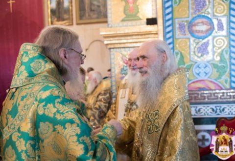 У день пам'яті преподобного Іова митрополит Серафим взяв участь у святковому богослужінні в Почаївській Лаврі